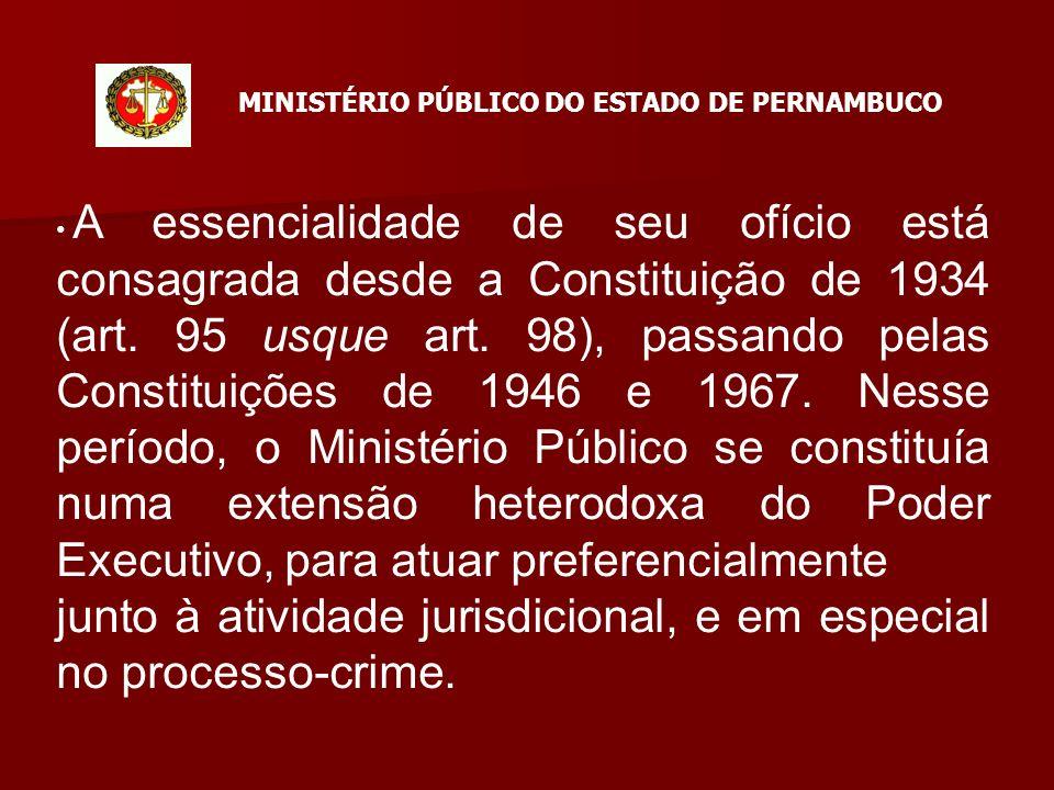 A essencialidade de seu ofício está consagrada desde a Constituição de 1934 (art.