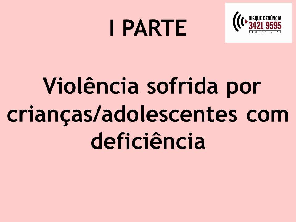 Violência sofrida por crianças/adolescentes com deficiência I PARTE