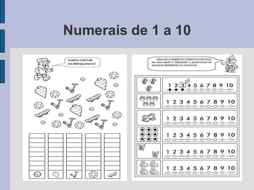 Numerais de 1 a 10