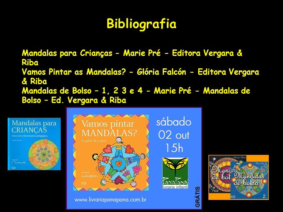 Bibliografia Mandalas para Crianças - Marie Pré - Editora Vergara & Riba Vamos Pintar as Mandalas.