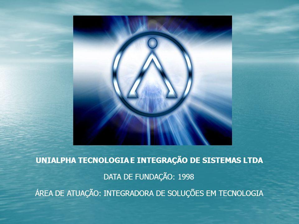 UNIALPHA TECNOLOGIA E INTEGRAÇÃO DE SISTEMAS LTDA DATA DE FUNDAÇÃO: 1998 ÁREA DE ATUAÇÃO: INTEGRADORA DE SOLUÇÕES EM TECNOLOGIA