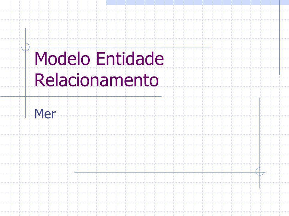 Modelo Entidade Relacionamento Relacionamento Um modelo conceitual ( o Modelo Entidade Relacionamento é um tipo) é; um modelo (lógico) detalhado que captura a estrutura dos dados organizacional enquanto sendo independente de qualquer sistema de gerenciamento de base de dados...