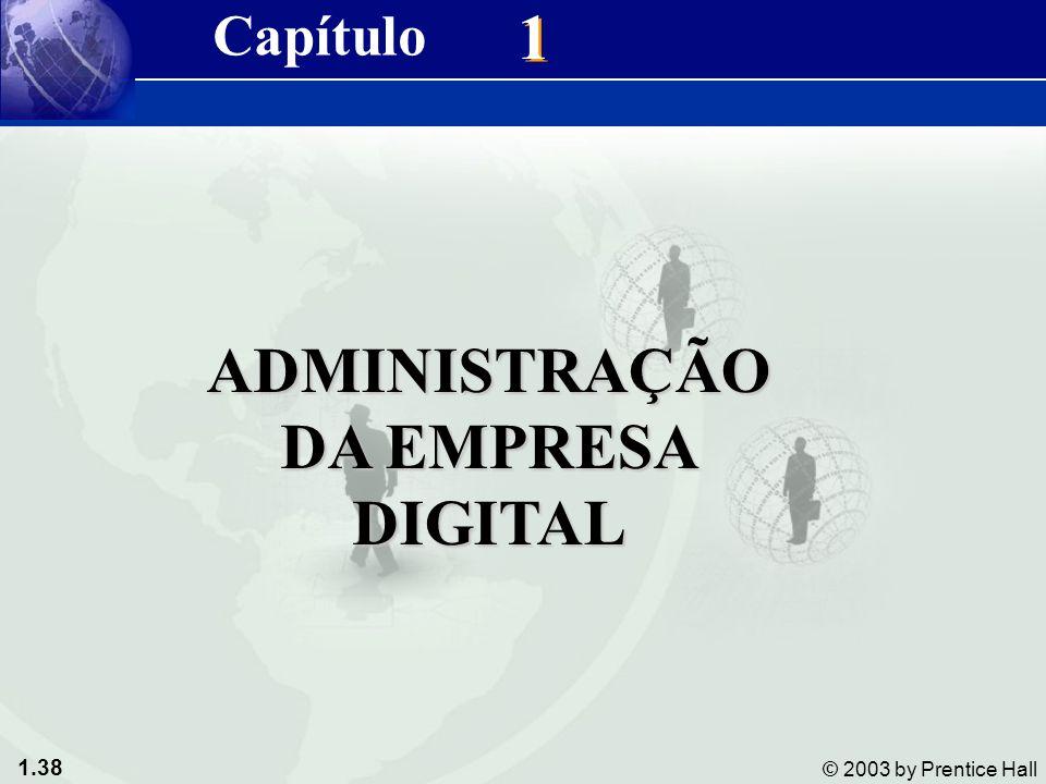 1.38 © 2003 by Prentice Hall 1 1 ADMINISTRAÇÃO DA EMPRESA DIGITAL Capítulo