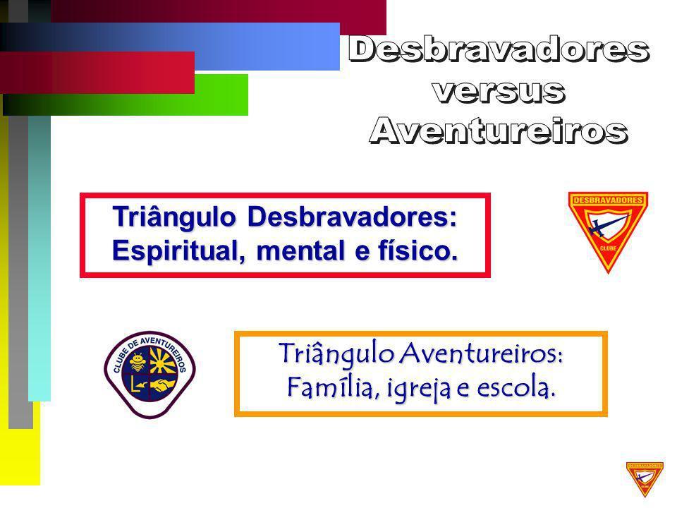 Triângulo Aventureiros: Família, igreja e escola.