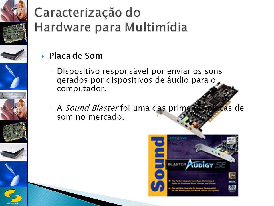 DSC/CEEI/UFCG Placa de Som Dispositivo responsável por enviar os sons gerados por dispositivos de áudio para o computador.