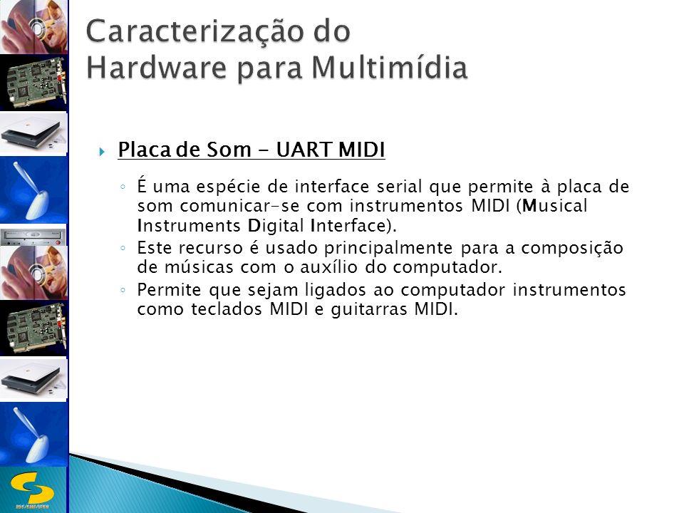DSC/CEEI/UFCG Placa de Som - UART MIDI É uma espécie de interface serial que permite à placa de som comunicar-se com instrumentos MIDI (Musical Instruments Digital Interface).