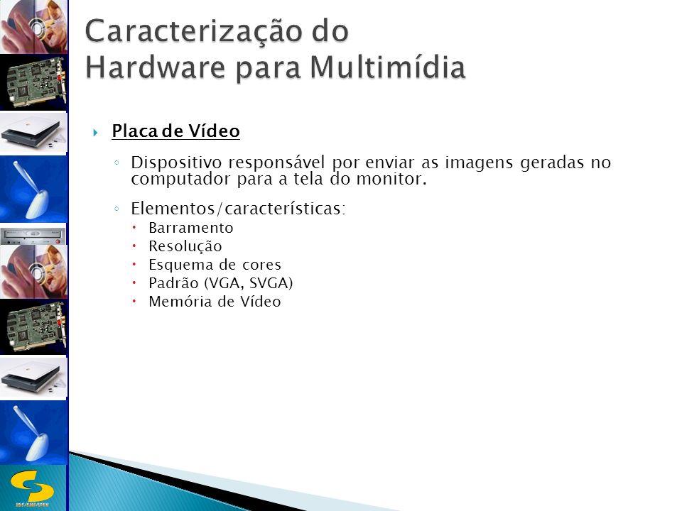 DSC/CEEI/UFCG Placa de Vídeo Dispositivo responsável por enviar as imagens geradas no computador para a tela do monitor.