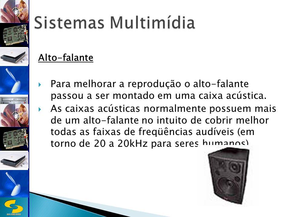 DSC/CEEI/UFCG Alto-falante Para melhorar a reprodução o alto-falante passou a ser montado em uma caixa acústica.