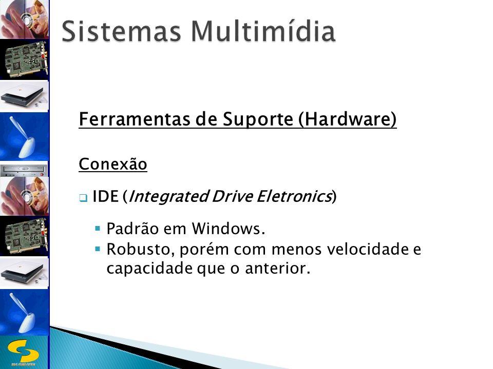 DSC/CEEI/UFCG Ferramentas de Suporte (Hardware) Conexão IDE (Integrated Drive Eletronics) Padrão em Windows.