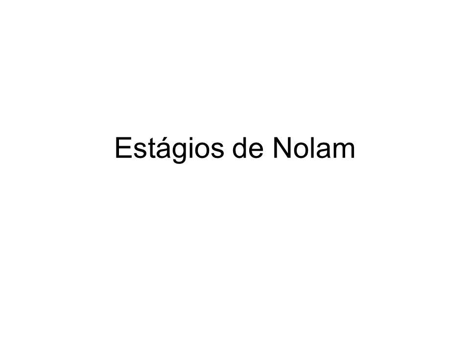Identificação estagio Nolam Identificar o estágio da empresa ; Esclarecer porque a empresa se encontra neste estágio, pelo ponto de vista da equipe;