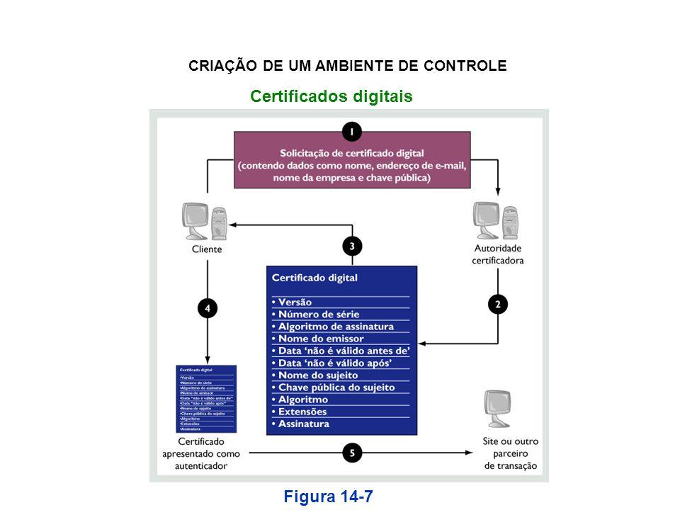 Certificados digitais Figura 14-7 CRIAÇÃO DE UM AMBIENTE DE CONTROLE