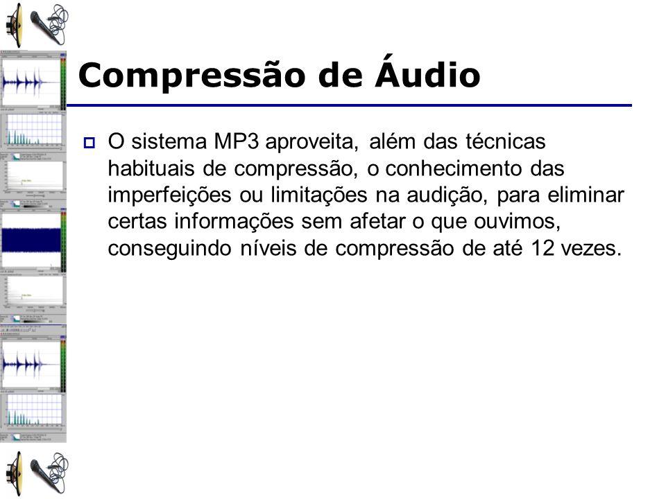 O sistema MP3 aproveita, além das técnicas habituais de compressão, o conhecimento das imperfeições ou limitações na audição, para eliminar certas informações sem afetar o que ouvimos, conseguindo níveis de compressão de até 12 vezes.