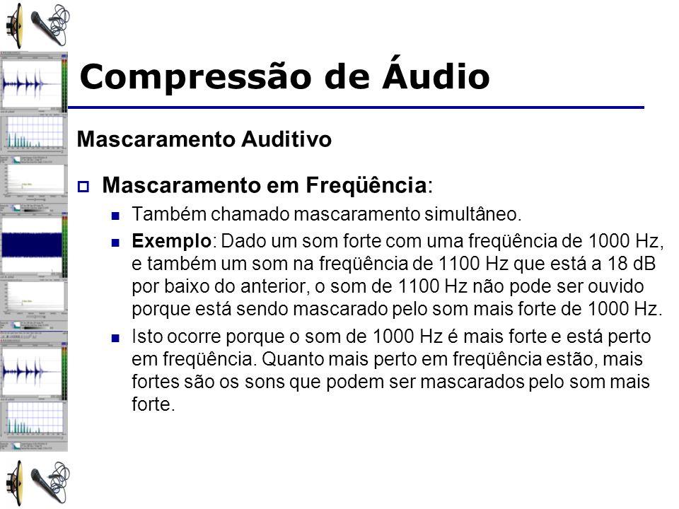 Mascaramento Auditivo Mascaramento em Freqüência: Também chamado mascaramento simultâneo.