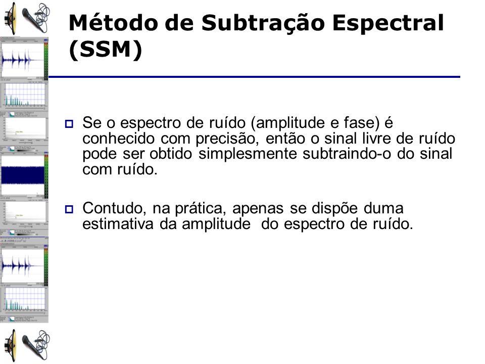 Se o espectro de ruído (amplitude e fase) é conhecido com precisão, então o sinal livre de ruído pode ser obtido simplesmente subtraindo-o do sinal com ruído.
