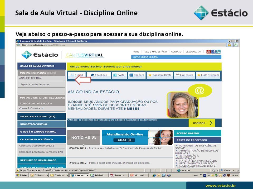 Sala de Aula Virtual - Disciplina Online Confirmação de email.