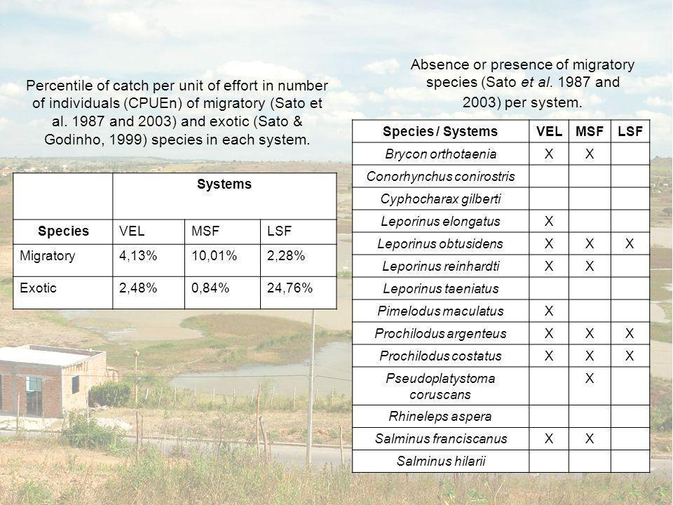 6.1 Espécies em comum VELHAS BSF MSF 30 espécies 7 espécies 9 espécies 1 espécie 6.