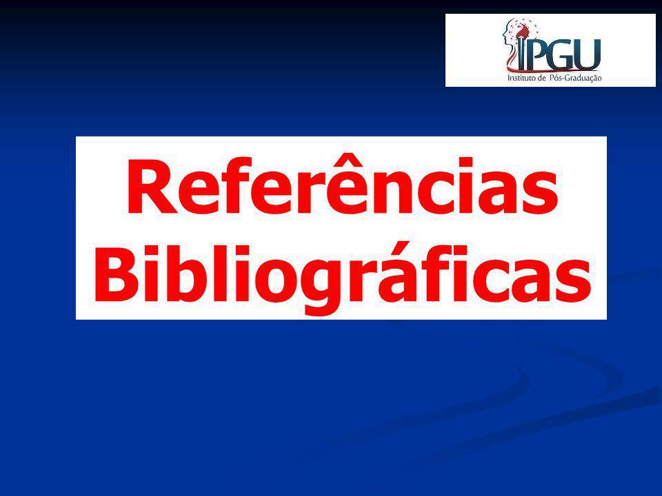Segundo a ABNT-NBR 6023:2003 REFERÊNCIAS BIBLIOGRÁFICAS Relação de obras citadas pelo autor em livros, artigos de periódicos, teses, relatórios técnicos, etc.