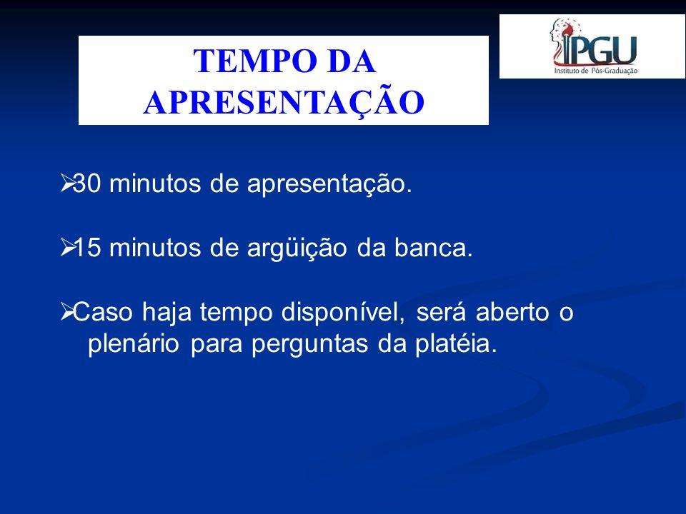 ETAPAS DA APRESENTAÇÃO Folha de Rosto – Obrigatório.