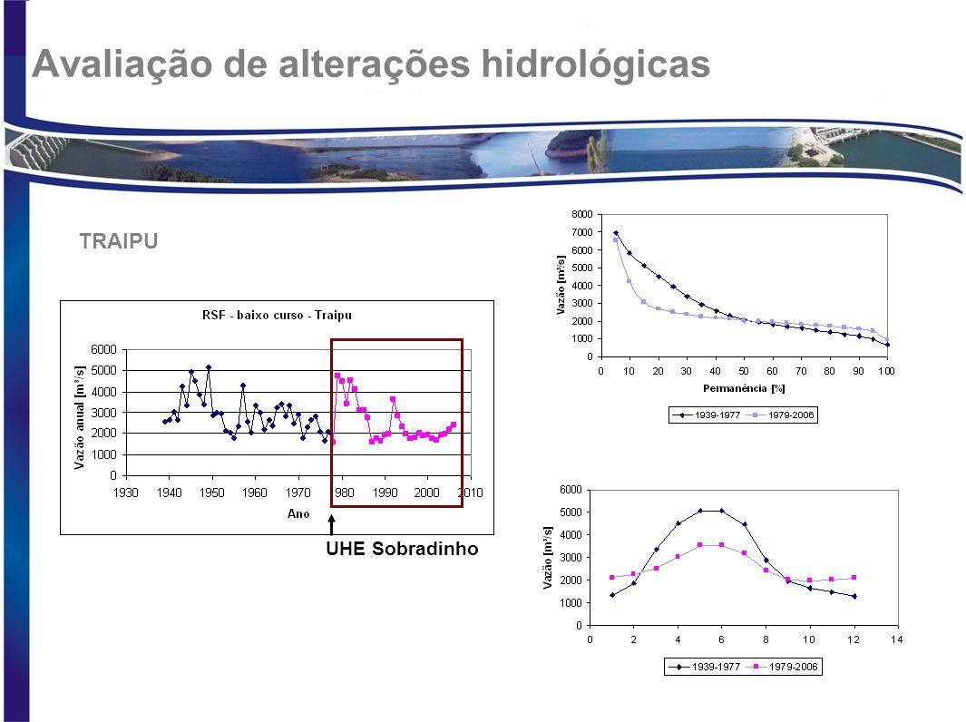 Avaliação de alterações hidrológicas UHE Sobradinho TRAIPU