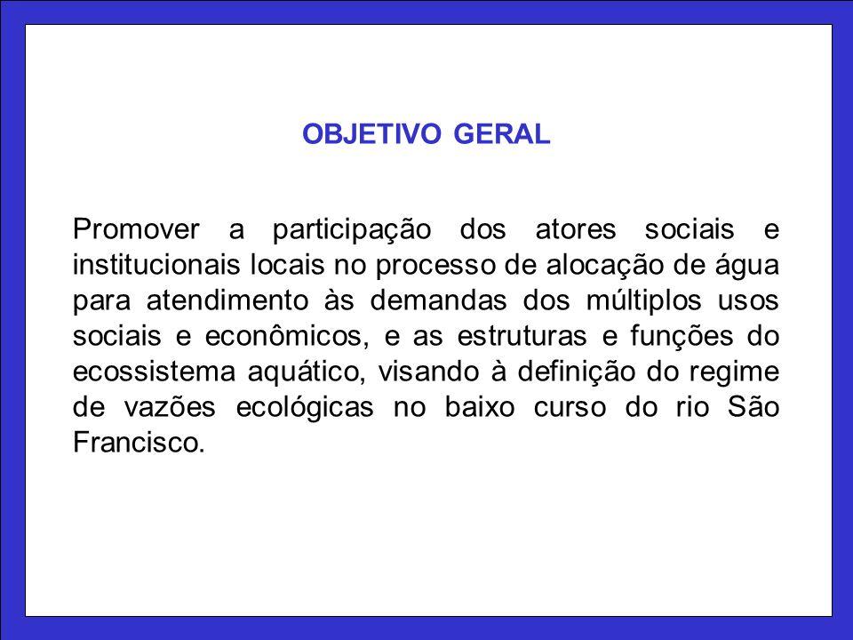 Promover a participação dos atores sociais e institucionais locais no processo de alocação de água para atendimento às demandas dos múltiplos usos soc