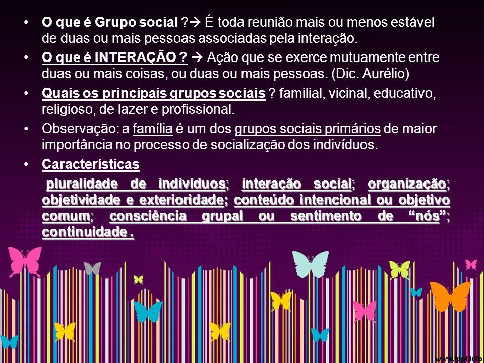 O que é Grupo social .
