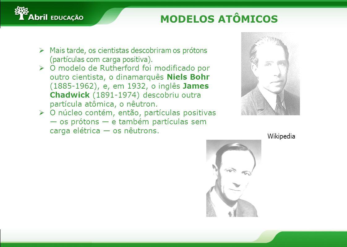 Mais tarde, os cientistas descobriram os prótons (partículas com carga positiva). O modelo de Rutherford foi modificado por outro cientista, o dinamar