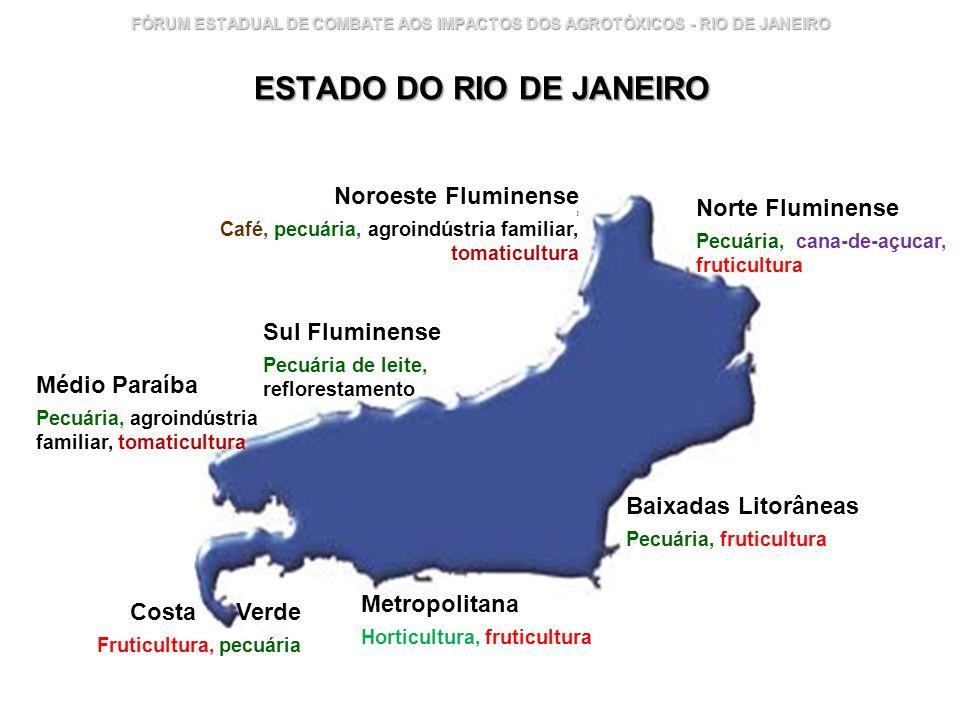 Instituto Nacional de Controle de Qualidade em Saúde 3 FÓRUM ESTADUAL DE COMBATE AOS IMPACTOS DOS AGROTÓXICOS - RIO DE JANEIRO ESTADO DO RIO DE JANEIR