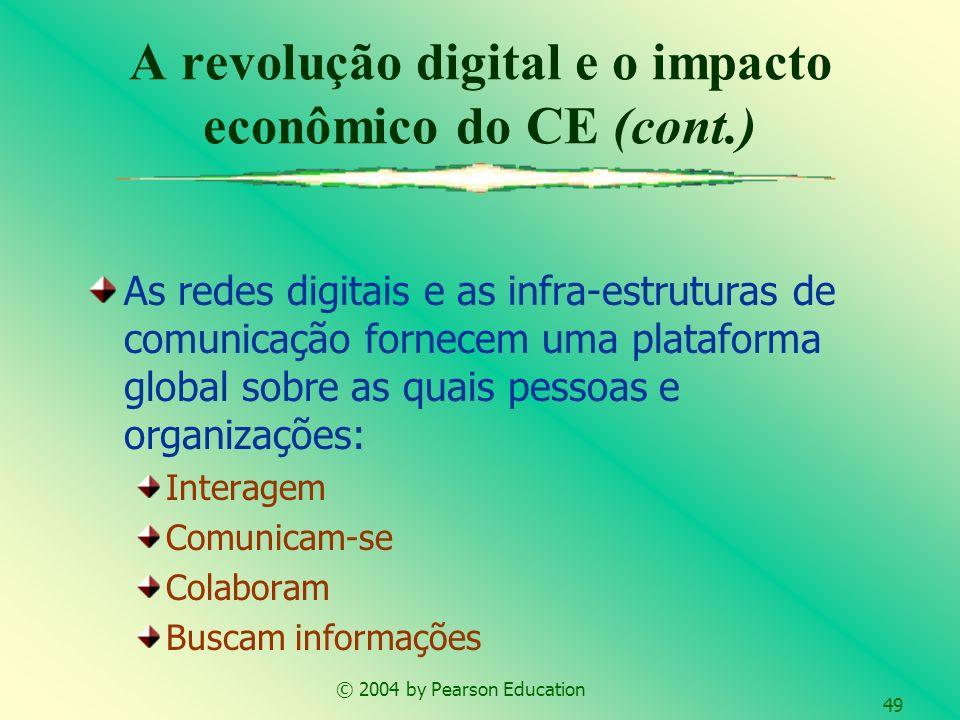 © 2004 by Pearson Education 49 As redes digitais e as infra-estruturas de comunicação fornecem uma plataforma global sobre as quais pessoas e organiza
