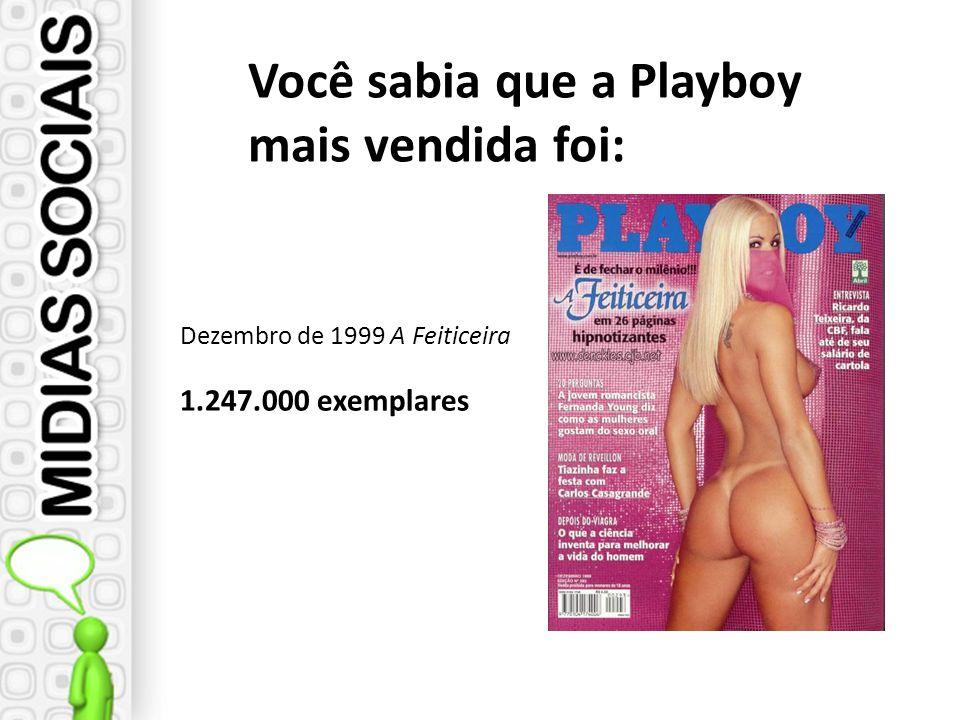 Dezembro de 1999 A Feiticeira 1.247.000 exemplares Você sabia que a Playboy mais vendida foi: