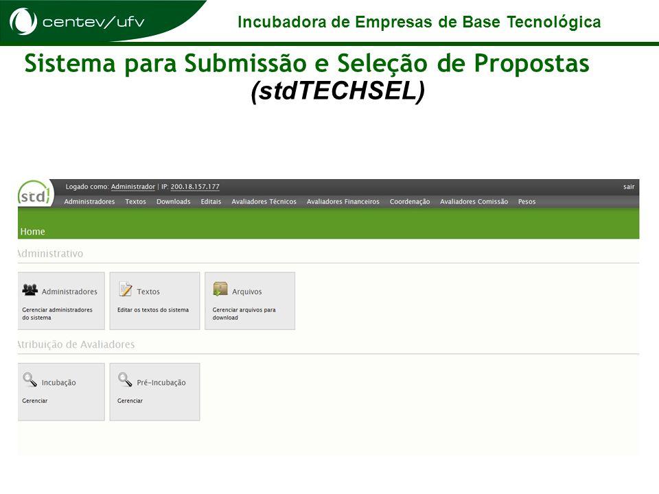 Sistema para Submissão e Seleção de Propostas (stdTECHSEL)