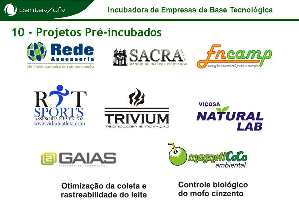 Incubadora de Empresas de Base Tecnológica 10 - Projetos Pré-incubados