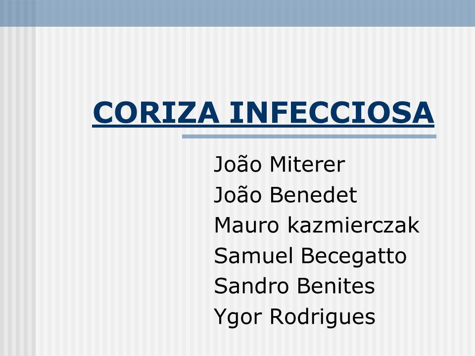 CORIZA INFECCIOSA João Miterer João Benedet Mauro kazmierczak Samuel Becegatto Sandro Benites Ygor Rodrigues