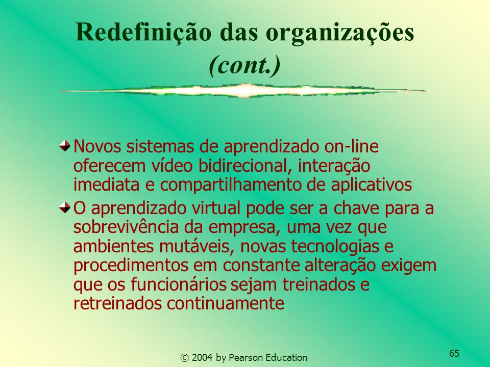 66 © 2004 by Pearson Education Questões gerenciais Como concorremos na economia digital.