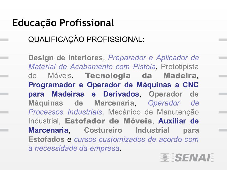 Educação Profissional QUALIFICAÇÃO PROFISSIONAL: Design de Interiores, Preparador e Aplicador de Material de Acabamento com Pistola, Prototipista de M