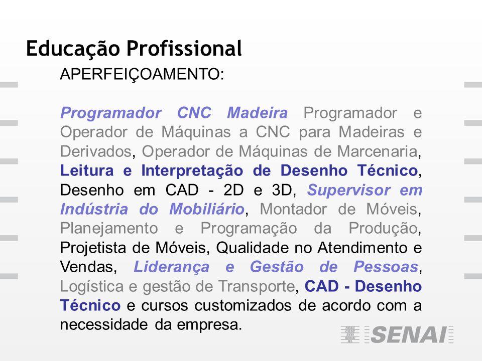 Educação Profissional APERFEIÇOAMENTO: Programador CNC Madeira Programador e Operador de Máquinas a CNC para Madeiras e Derivados, Operador de Máquina