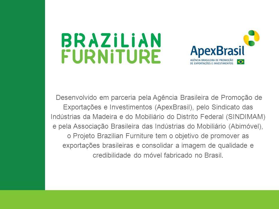 Desenvolvido em parceria pela Agência Brasileira de Promoção de Exportações e Investimentos (ApexBrasil), pelo Sindicato das Indústrias da Madeira e d