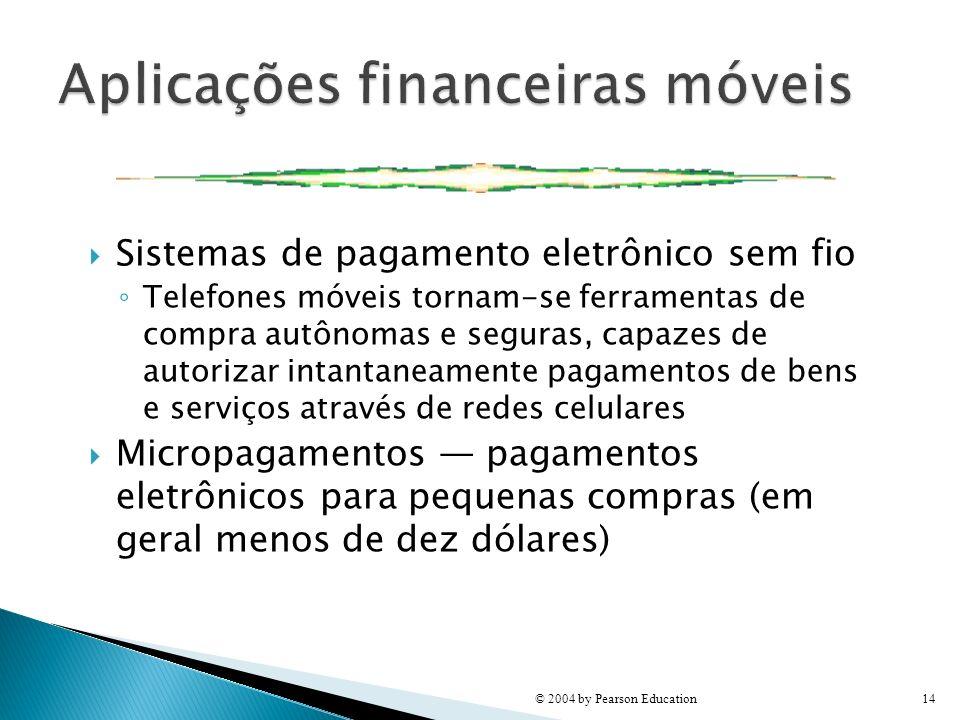 Sistemas de pagamento eletrônico sem fio Telefones móveis tornam-se ferramentas de compra autônomas e seguras, capazes de autorizar intantaneamente pa