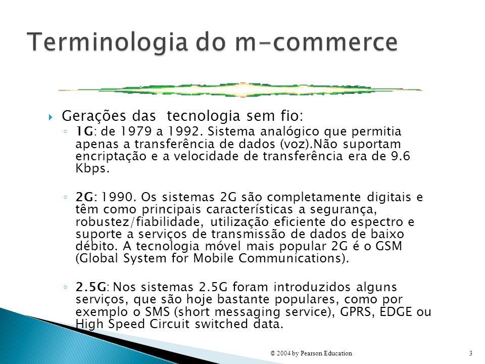 Gerações das tecnologia sem fio: 1G: de 1979 a 1992. Sistema analógico que permitia apenas a transferência de dados (voz).Não suportam encriptação e a