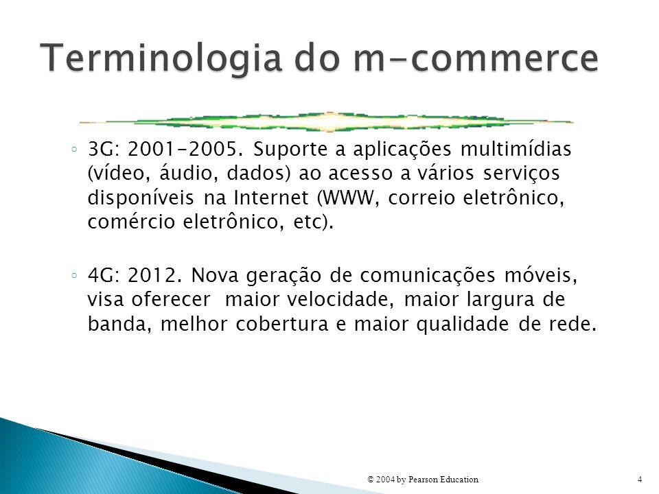 3G: 2001-2005. Suporte a aplicações multimídias (vídeo, áudio, dados) ao acesso a vários serviços disponíveis na Internet (WWW, correio eletrônico, co