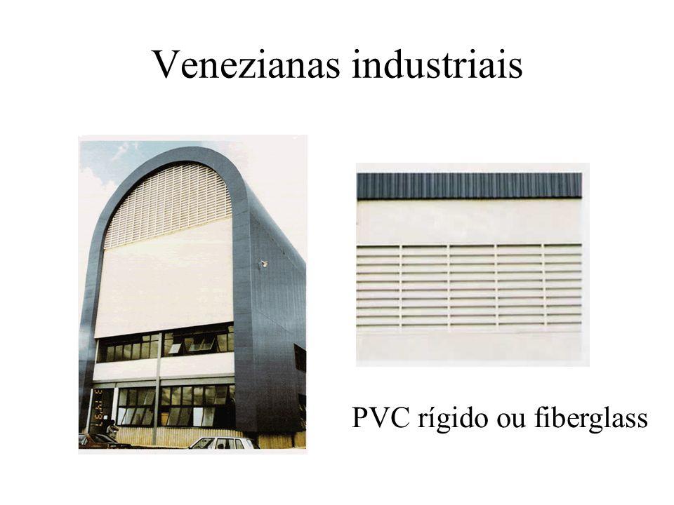 Venezianas industriais PVC rígido ou fiberglass