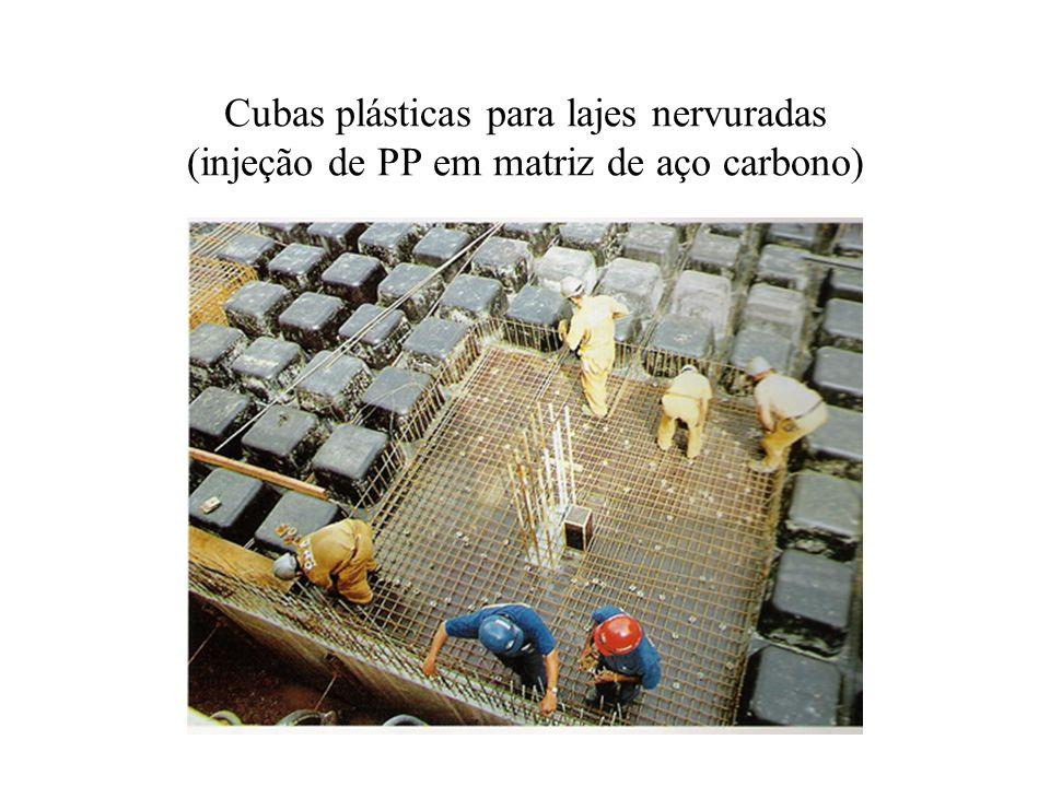 Cubas plásticas para lajes nervuradas (injeção de PP em matriz de aço carbono)