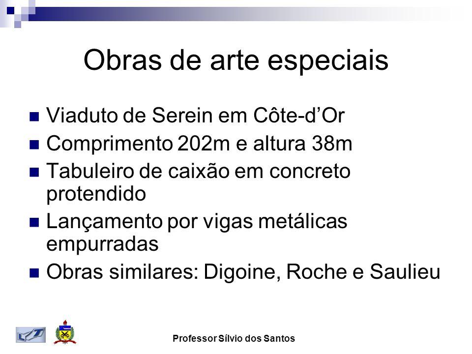 Obras de arte especiais Viaduto de Serein em Côte-dOr Comprimento 202m e altura 38m Tabuleiro de caixão em concreto protendido Lançamento por vigas me