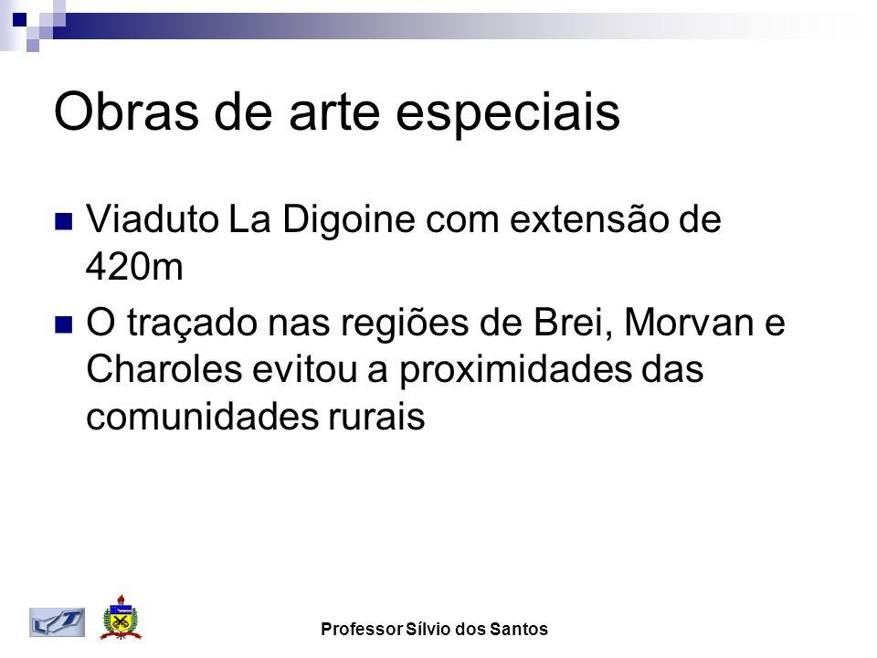 Obras de arte especiais Viaduto La Digoine com extensão de 420m O traçado nas regiões de Brei, Morvan e Charoles evitou a proximidades das comunidades rurais