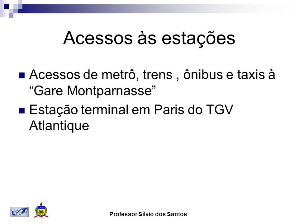 Acessos às estações Acessos de metrô, trens, ônibus e taxis à Gare Montparnasse Estação terminal em Paris do TGV Atlantique