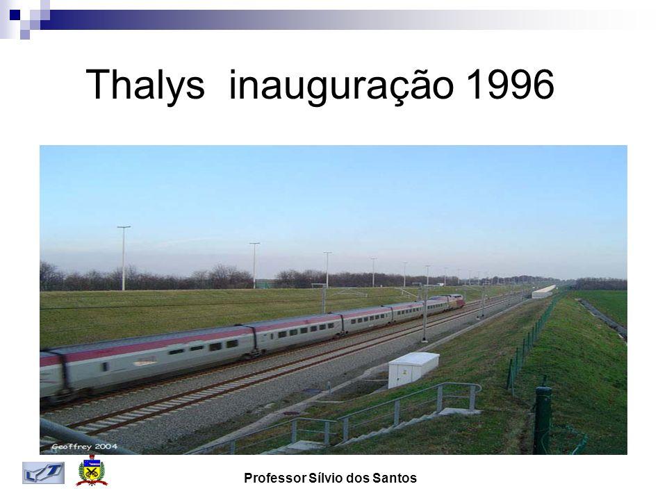 Professor Sílvio dos Santos Thalys inauguração 1996