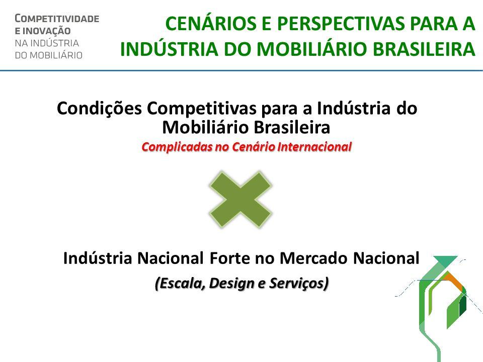 CENÁRIOS E PERSPECTIVAS PARA A INDÚSTRIA DO MOBILIÁRIO BRASILEIRA Condições Competitivas para a Indústria do Mobiliário Brasileira Complicadas no Cená