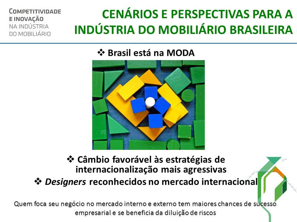 CENÁRIOS E PERSPECTIVAS PARA A INDÚSTRIA DO MOBILIÁRIO BRASILEIRA Brasil está na MODA Câmbio favorável às estratégias de internacionalização mais agre
