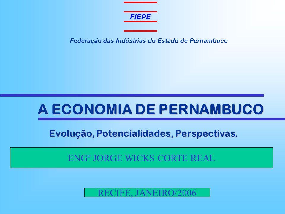 Federação das Indústrias do Estado de Pernambuco Evolução, Potencialidades, Perspectivas. Evolução, Potencialidades, Perspectivas. A ECONOMIA DE PERNA