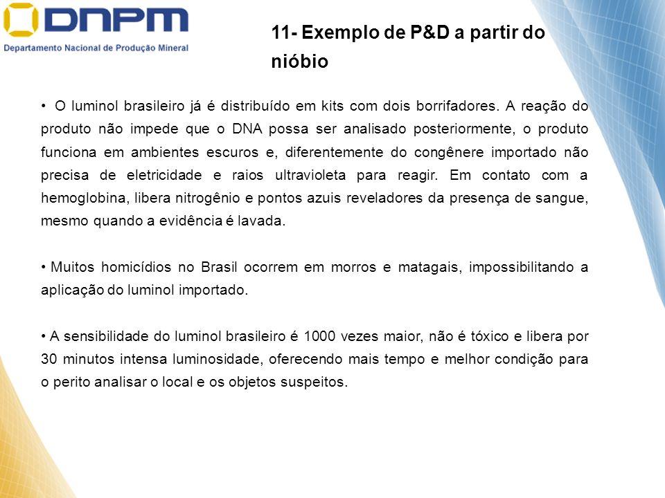 O luminol brasileiro já é distribuído em kits com dois borrifadores. A reação do produto não impede que o DNA possa ser analisado posteriormente, o pr