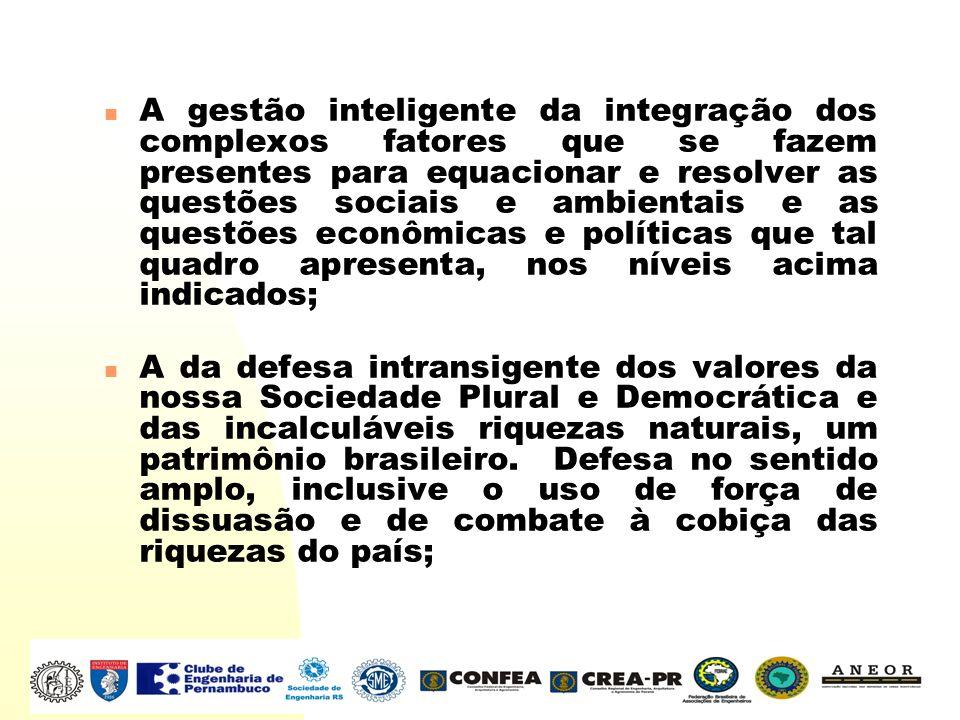 A gestão inteligente da integração dos complexos fatores que se fazem presentes para equacionar e resolver as questões sociais e ambientais e as quest
